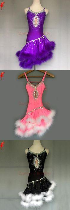 New style latin dance costume sexy diamond Feather latin dance dress for women latin dance competition dress S-4XL F80