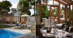 En stilren och stämningsfull samlingsplats i glas Patio, Garden, Outdoor Decor, Home Decor, Corning Glass, Garten, Decoration Home, Room Decor, Lawn And Garden