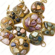 Pingentes com Pedras Brasileiras