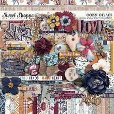 Digital Scrapbook Kit, Cozy On Up by Amber Shaw