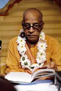Srila A C Bhaktivedanta Swami Prabhupada, founder of the world wide Hare Krishna movement.