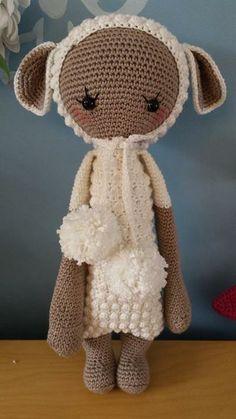 LUPO the lamb made by Judith B. / crochet pattern by lalylala