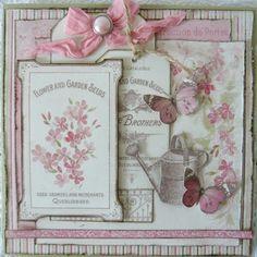 't Scrap Ateljeetje: Pion Design Vintage Garden Card