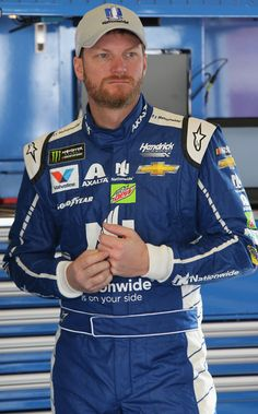 Dale Earnhardt Jr. Photos Photos - Dale Earnhardt Jr., driver of the #88 Nationwide Chevrolet, stands in the garage during practice for the 59th Annual DAYTONA 500 at Daytona International Speedway on February 18, 2017 in Daytona Beach, Florida. - Daytona International Speedway - Day 2