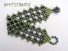 Tutorial O-Lace bracelet, A bracelet with O beads and Super duo beads.