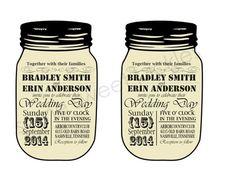 Rustic Chic Mason Jar Wedding Invitations by SomeSweetPickles, $25.00