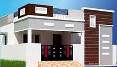Image result for elevations of independent houses House Outside Design, House Front Design, Small House Design, Modern House Design, House Elevation, Front Elevation, Building Elevation, North Facing House, Single Floor House Design