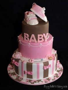 This cake is awesome!! I have always thought that brown and pink look good together!!