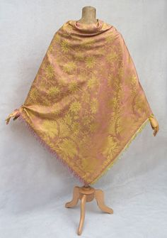 Regency damask shawl c 1820