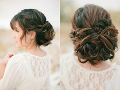 Love big, ol messy curls with little braid accents. Something so soft and beautiful about this.