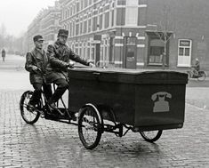 Tandem cargo Tricycle from the Dutch telecom department, Holland