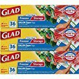 Prime Members: 108-Ct Glad Food Storage and Freezer 2 in 1 Zipper Bags (Gallon) $7.78 or less w/ S&S  Free S/H #LavaHot http://www.lavahotdeals.com/us/cheap/prime-members-108-ct-glad-food-storage-freezer/220093?utm_source=pinterest&utm_medium=rss&utm_campaign=at_lavahotdealsus