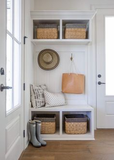 Door Small Mudroom Laundry On Left Entryway Bench Storage