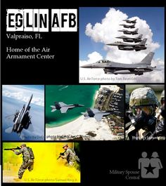 Home of the Air Armament Center. Have you been stationed at Eglin AFB? Military Spouse, Military Life, Airforce Wife, Usmc, Us Military Branches, Eglin Air Force Base, Northern Girls, Fort Walton Beach, Air Force Bases