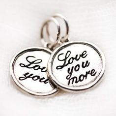 Cute 'love you' charms! Cute Love, My Love, Love Me More, Charms, Jewelry Accessories, Jewels, Jewellery, Personalized Items, Sterling Silver