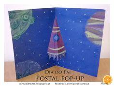 Pintas Laranja: Postal Pop-up para o Dia do Pai