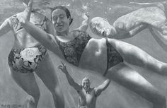 untitled swimmers, fang lijun
