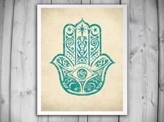 Listing is for one HAMSA HAND Art Print. Choose Size: Select your desired size from the drop-down menu next to Add To Cart button.
