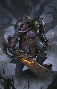 World of Warcraft Art: Photo Fantasy Warrior, Fantasy Rpg, Dark Fantasy, Final Fantasy, World Of Warcraft Characters, Dnd Characters, Fantasy Characters, Character Concept, Character Art