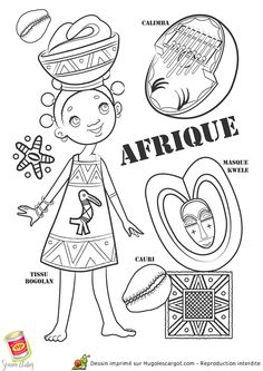 African paper doll to color Colouring Pages, Coloring Books, Kids Colouring, Africa Craft, Afrique Art, World Thinking Day, World Geography, World Crafts, Disney Halloween
