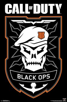Trends International Call of Duty: Black Ops 4 - Logo Wall Poster, x Unframed Version Video Game Logos, Video Game Posters, Call Off Duty, Call Of Duty Cakes, Zombie Wallpaper, Black Ops Zombies, Call Of Duty Zombies, Black Ops 4, Call Of Duty Black
