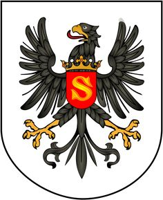 East Prussia coat of arms. The Polish Crown around the neck indicates that Prussia was a fief of the Kingdom of Poland. The S = Sigismundus King of Poland. Out of this ulcer the Kingdom of Prussia first and then in 1871 the second German Empire are generated resulting in two World Wars !! See to know more about Teutons and Luther ▶ https://en.wikipedia.org/wiki/Duchy_of_Prussia | ⌹ ⍇  [Lechina ancient Poland] 543  flags and banners of the world…