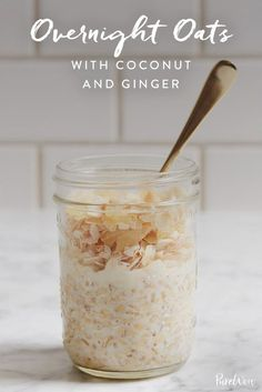 Overnight Oats with Coconut and Ginger via @PureWow
