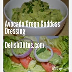 Green Goddess Dressing, made healthy with avocado!