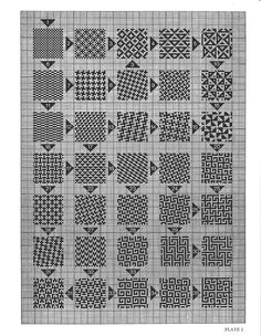 More so counted thread work than cross stitch. Picture mentions beading too.This Pin was discovered by Michelle Parsons.Cross stitch or even knitting pattern Blackwork Patterns, Blackwork Embroidery, Celtic Patterns, Cross Stitch Embroidery, Embroidery Patterns, Celtic Cross Stitch, Cross Stitch Borders, Cross Stitching, Cross Stitch Patterns