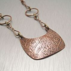 Image of Copper Floral Necklace
