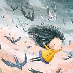 ideas children illustration girl illustrators for 2019 Art And Illustration, Little Girl Illustrations, Book Illustrations, Animation, Art Graphique, Whimsical Art, Cute Drawings, Cute Art, Illustrators
