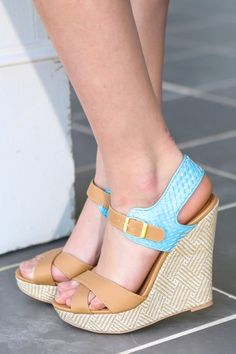 The perfect pair of Spring wedges! Love, love, love! Shoe obsessed! You can never have too many wedges!
