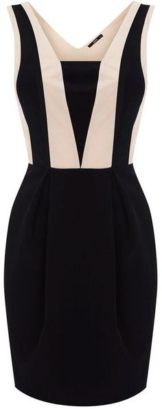 Colourblock Panel Dress: Oh my goodness is this dress beautiful or what? It looks so elegant and classy, so not fit for someone like me, but it's just so beautiful. Passion For Fashion, Love Fashion, Womens Fashion, Ladies Fashion, Girl Fashion, Mode Style, Style Me, Pretty Dresses, Beautiful Dresses