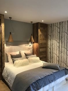 Wall Paper Home Design Bedrooms 54 Ideas For 2019 Wallpaper Bedroom, Modern Bedroom, Home, Bedroom Design, House Design, Bedroom Design Styles, Bed, Luxury Bedding, Luxury Bedding Sets