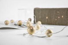 DIY | Holzkugeln im neuen Glanz oder wie man eine Lichterkette ganz schnell zum Hingucker macht | mxliving