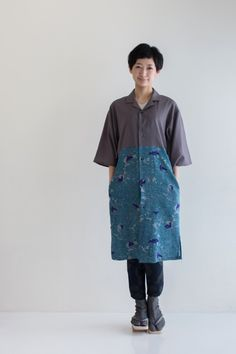 Kimono Sleeve Shirt Dress Whisper Muslin : SOU • SOU US Online Store
