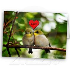 Sold! Thank you Mr.  Basildon of United Kingdom.  Enjoy your Valentine's Day Greeting Card - Birds in a tree.