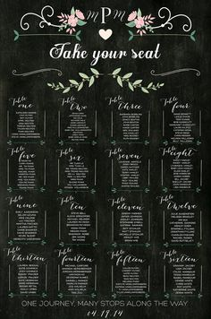 Chalkboard Wedding Table Assignments Board Table by LCOonEtsy Wedding Table Assignments, Wedding Table Setup, Seating Chart Wedding, Seating Charts, Wedding Place Cards, Wedding Guest Book, Trendy Wedding, Diy Wedding, Wedding Ideas