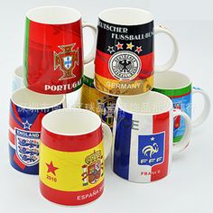 The European Cup Fans Supplies Germany Argentina Spain England France Ceramic Mug Mug Cup