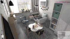 Pokoik trzyletniej Liwii - Średni pokój dziecka dla dziewczynki dla malucha, styl skandynawski - zdjęcie od Designbox Marta Bednarska-Małek