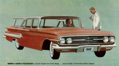 All ' 58 chevy station wagon models are illustrated in this brochure. Description from yamahamotorcyclesnew.net. I searched for this on bing.com/images