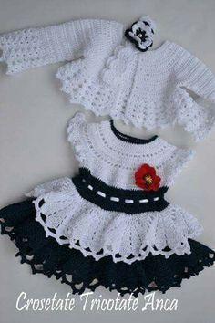 Crochet Baby Clothes Girl Link 40 Ideas For 2019 Crochet Girls Dress Pattern, Doll Dress Patterns, Baby Girl Crochet, Crochet Baby Clothes, Baby Patterns, Crochet Hats, Crochet Patterns, Crochet Ideas, Vestidos Bebe Crochet
