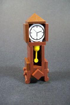 Grandfather clock :P (Explored!) Grandfather clock :P (Explored! Lego Design, Lego Minecraft, Lego Lego, Minecraft Skins, Minecraft Buildings, Lego Disney, Legos, Lego Furniture, Cheap Furniture
