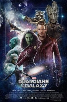Guardians of the Galaxy (2014) PG-13 - Stars: Chris Pratt, Vin Diesel, Bradley Cooper.  -  A group of intergalactic criminals are forced to work together to stop a fanatical warrior from taking control of the universe.  -  ACTION - ADVENTURE / SCI-FI