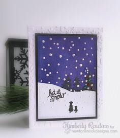 Let it Snow | #handmadecard | Newton's Nook Designs | Whispering Pines stamp set by Newton's Nook Designs #newtonsnook