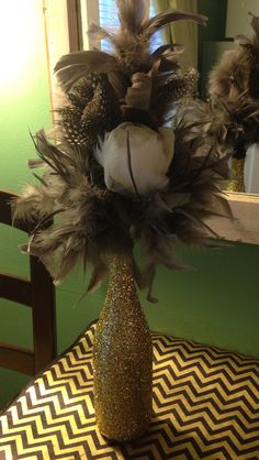 Centerpiece vases for 1920's Murder mystery party.
