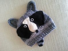 Raccoon Hat.  By Jackthemanabouttown on Etsy