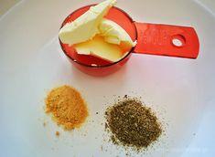 Βούτυρο, σκόρδο, ρίγανη