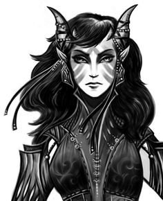 Qunari female raised in Orlais by IngaLamagra on DeviantArt