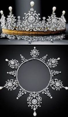 Royal tiaras - Diamond & Pearl Tiara.JPG